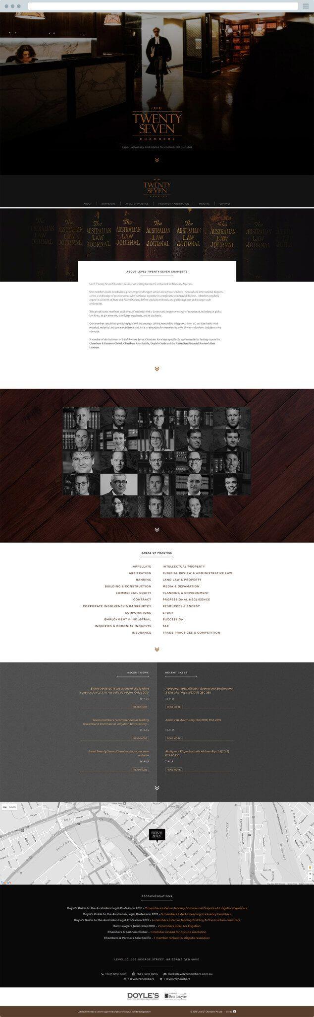 Level 27 Chambers - Website Design | iCreate Advertising