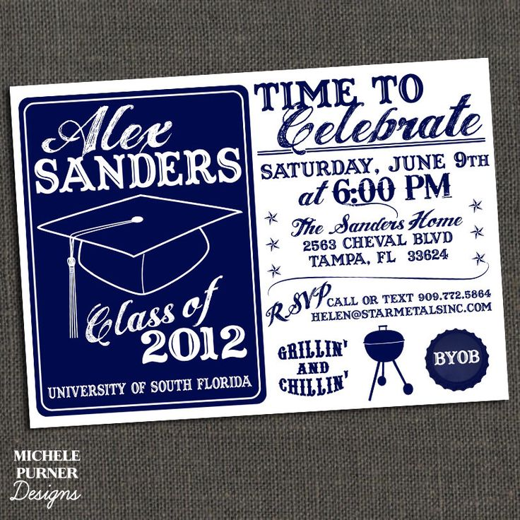 High School or College Graduation Party Invitation - BBQ - Printable by michelepurnerdesigns on Etsy https://www.etsy.com/listing/74487893/high-school-or-college-graduation-party