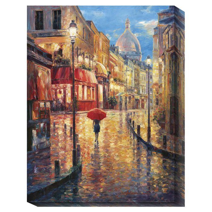 Montmartre Evening Canvas Print