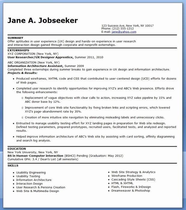 Entry Level Web Developer Resume Beautiful Ux Designer Resume Entry Level In 2020 Resume Design Web Developer Resume Job Resume Examples