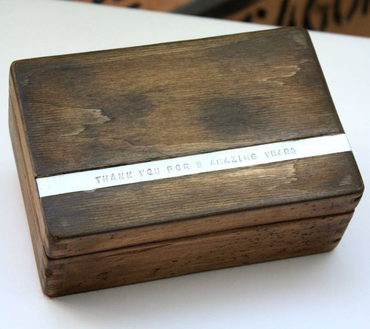 anniversary wooden keepsake box by warner's end | notonthehighstreet.com. Make the strip from the anniversary material ie wood, ivory, stone, diamonds...