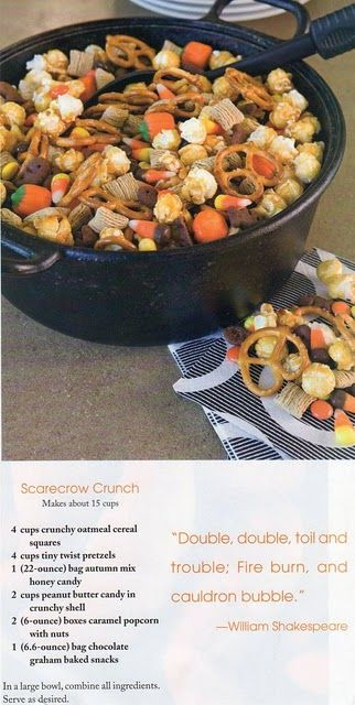 Scarecrow Snack Mix (good for parties or classroom!)