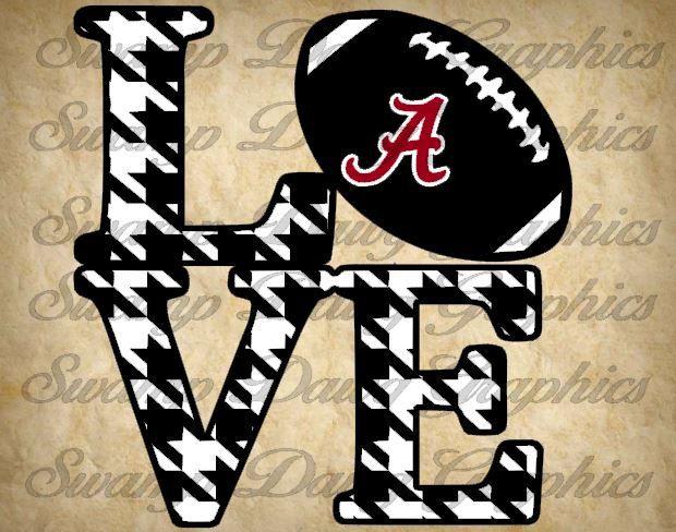 Alabama Love svg alabama roll tide svg by SwampDawgGraphics