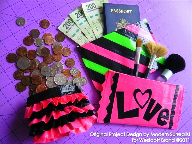 Chicago Craft Social: Project Announcement - Duck Tape Pouches Sponsored by Westcott