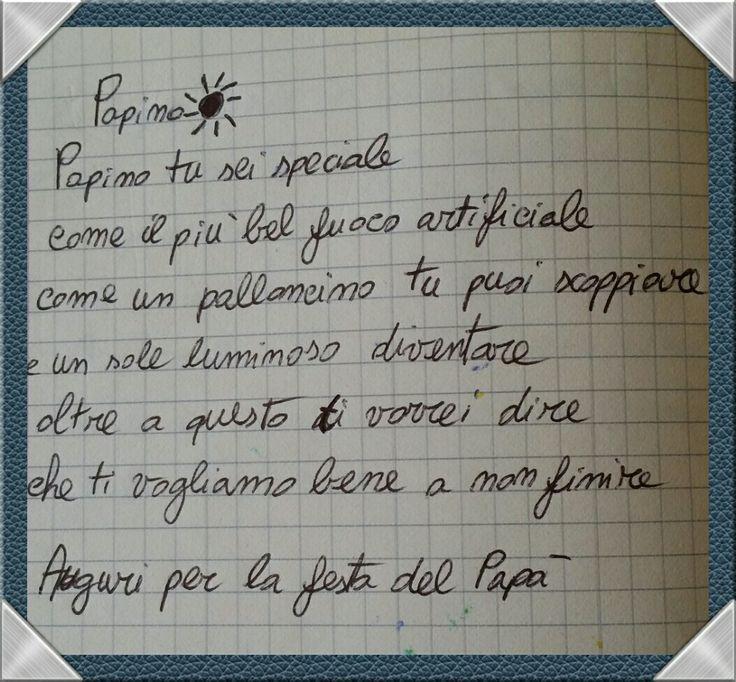 By Sofia Musumeci al suo papà ☺