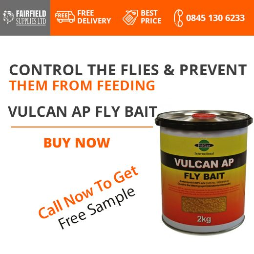 Keep Your #Farm Safe From Flies! Control & Prevent Them From Feeding With Vulcan AP #FlyBait. Call Now To Buy! Free Delivery In United Kingdom!    #Banbury #Fairfields #England #UnitedKingdom #UKFarming #Oxfordshire #GreatBritain #England #StablesWall #Horse #Horses #Stables #Farm #Farming #London #Agriculture