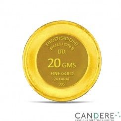 Buy Online Certified 20 Gms 24 KT Gold Coin 995 Purity from Cander.com  with todays gold rate in mumbai ~ http://www.candere.com/20-gms-24-kt-gold-coin-995-purity.html
