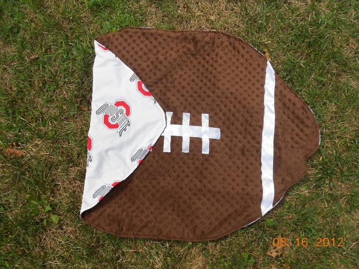Ohio State football baby blanket. $35.00, via Etsy.