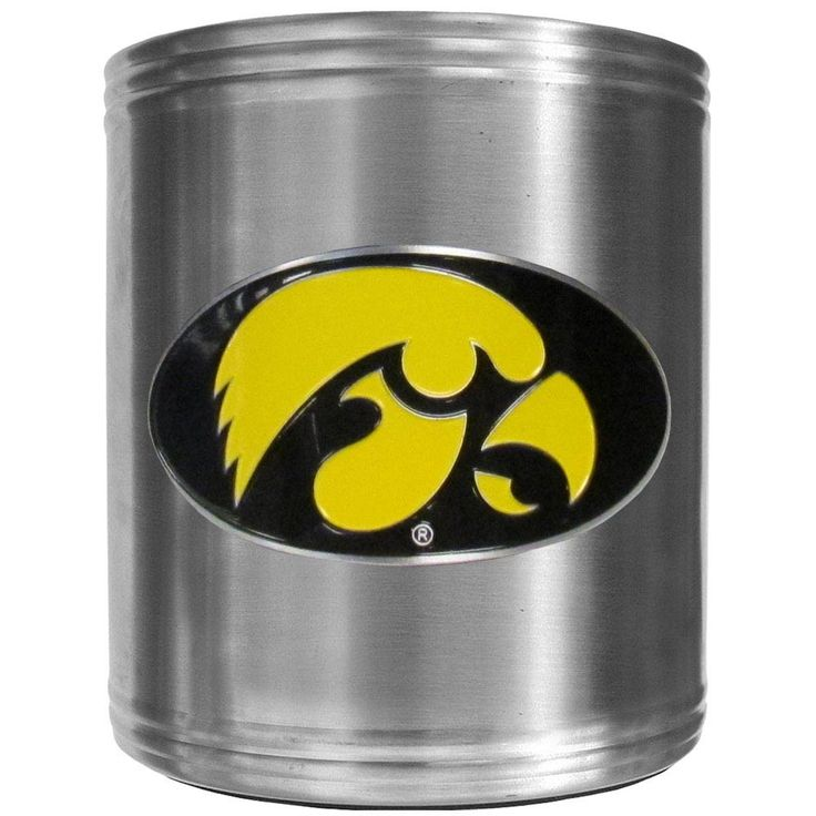 """Checkout our #LicensedGear products FREE SHIPPING + 10% OFF Coupon Code """"Official"""" Iowa Hawkeyes Steel Can Cooler - Officially licensed College product Stainless steel cooler Insulated to keep drinks cool Perfect for game day or any day Makes a great gift for any Iowa Hawkeyes fan - Price: $22.00. Buy now at https://officiallylicensedgear.com/iowa-hawkeyes-steel-can-cooler-ccs52"""