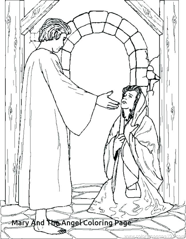 Image Result For The Angel Visits Mary Coloring Page Bible