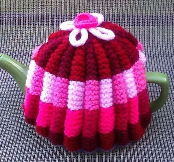 Hand Knitted Multicoloured Tea Cosy, 4-6 Cup Size | eBay