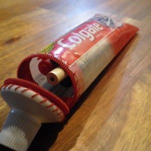 Eine Zahnpaste Tube wird zum Mäppchen - Handmade Kultur