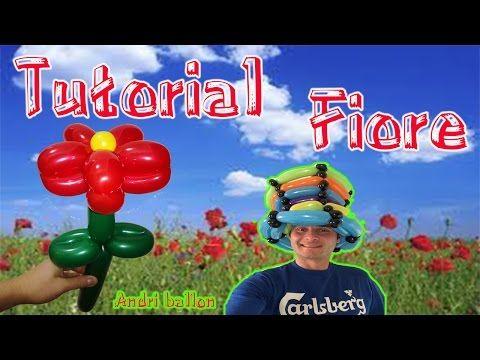 PALLONCINI MODELLABILI tutorial 19  FIORE SEMPLICE - YouTube