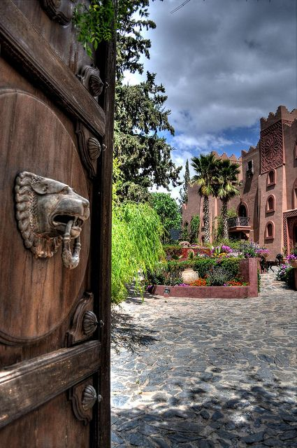Welcome To Kasbah Tamadot. The front door into the welcoming entrance garden by Shertila Tony, via Flickr