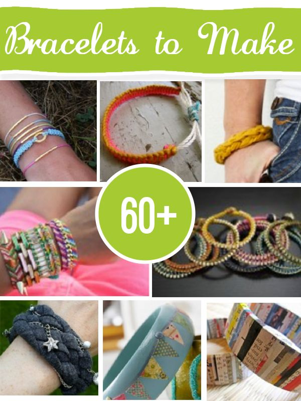 over 60 DIY Bracelets to make from @savedbyloves  Lots of interesting ideas!