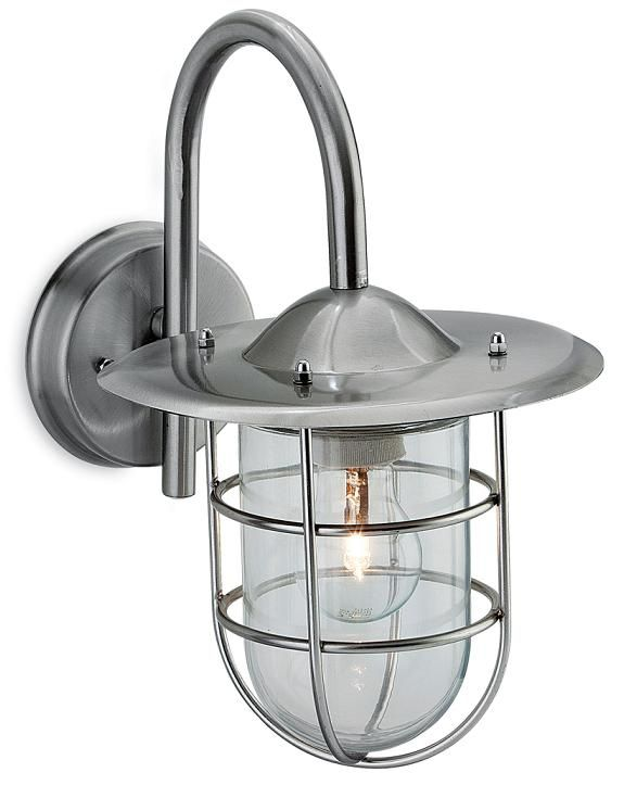 The Firstlight Lighting Cage Exterior Suspended Wall Lantern Is In A Stainless Steel Finish