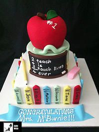Cake Ninja, Cake Decorating Brisbane | CELEBRATION CAKES www.cakeninja.com.au #applefortheteachers blackboard school classroom #pencilcake #specialteacher