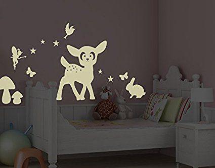 Trend Wandtattoo Nachtleuchtend Set Tiere im Wald in Wandtattoos Kinderzimmer im Klebefieber Online Shop bestellen Wandtattoo Nachtleuchtend Set Tiere im Wald