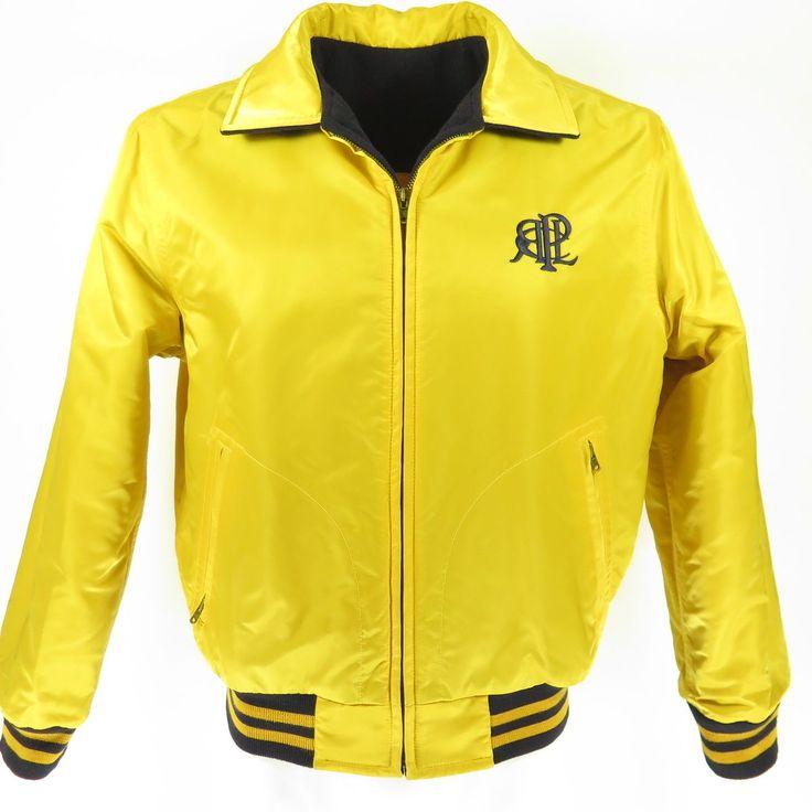 Vtg 90s Polo Sport Ralph Lauren Reversible P-Wing Stadium Jacket Mens L | The Clothing Vault