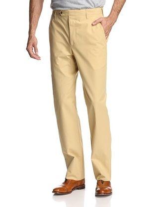 Oxxford Men's Solid Poplin Pant