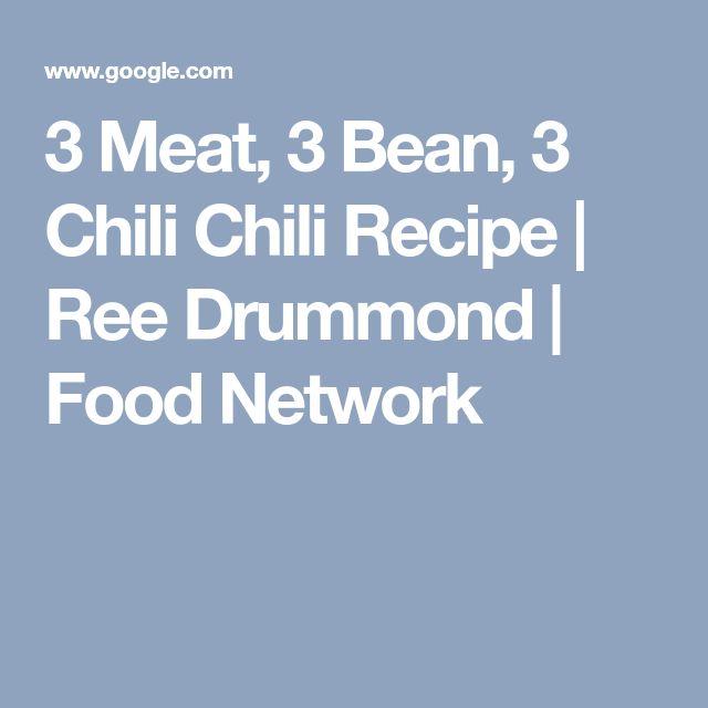 3 Meat, 3 Bean, 3 Chili Chili Recipe | Ree Drummond | Food Network