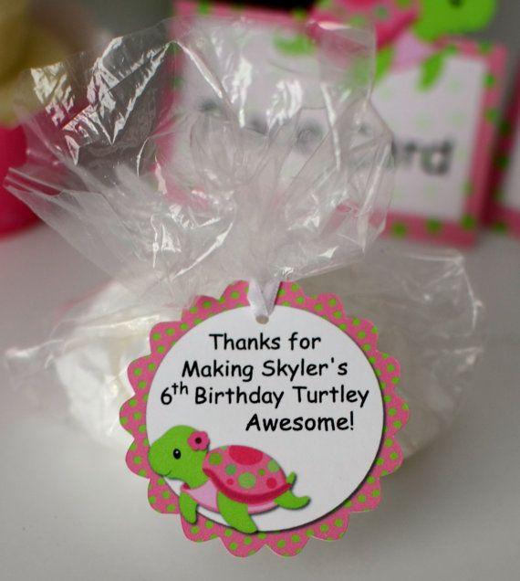 Girl Pink Turtle Birthday Turtle Baby Shower by bcpaperdesigns