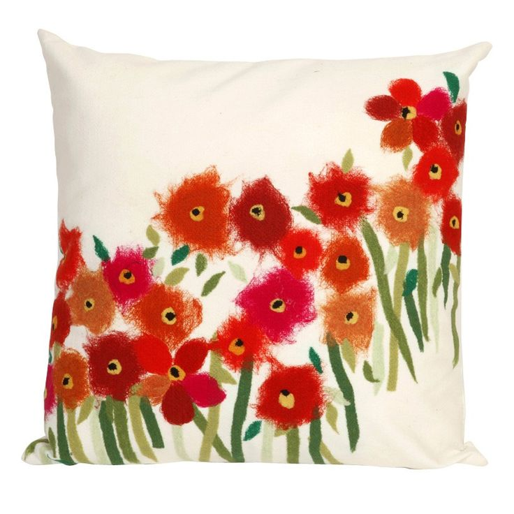 Red Poppy Decorative Pillow : Liora Manne // Poppies Red Throw Pillow Home Projects and Things To Do Pinterest Poppy red ...