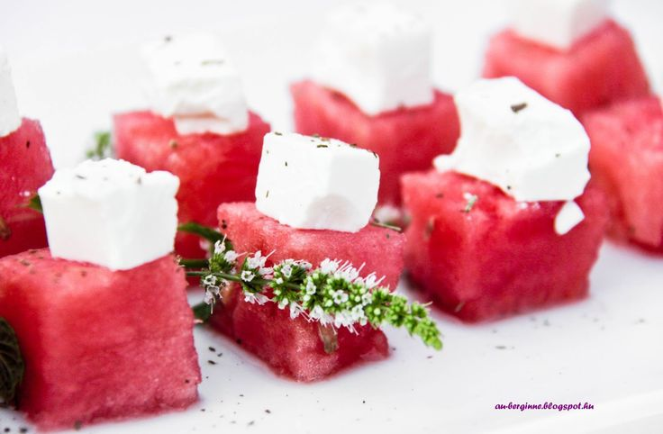 Melone-Feta cubes / Görögdinnye-feta kockák