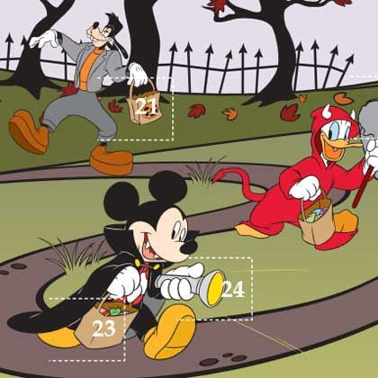 This #printable would also work well for an October vacation or a Mickey's Not So Scary Halloween Party or Halloweentime visit!   Disney Halloween Countdown Calendar  #disneyland #waltdisneyworld #disney #halloween