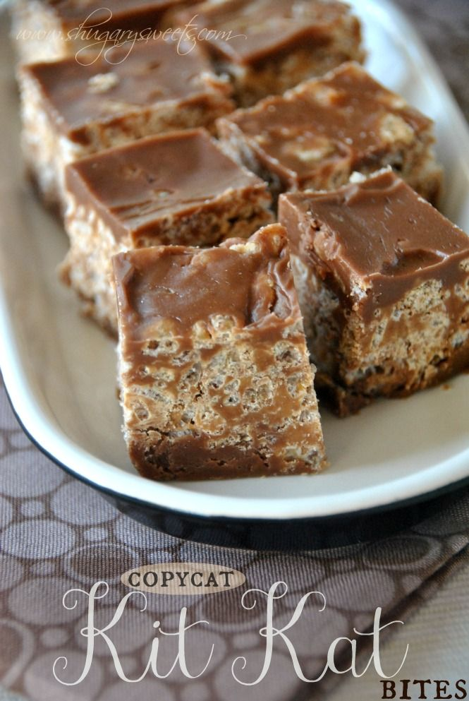 Bouchées croustillantes au chocolat et au riz soufflé façon Kit Kat