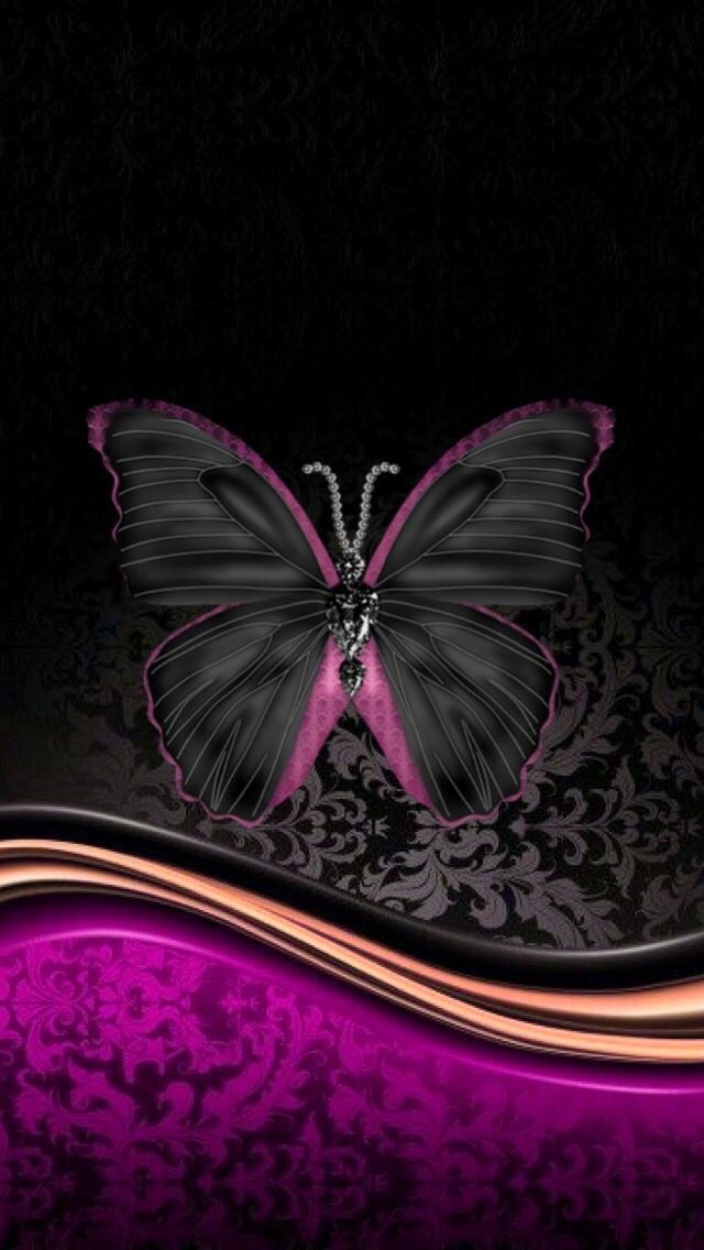 Black And Purple Black Wallpaper Abstract Iphone Wallpaper Butterfly Wallpaper