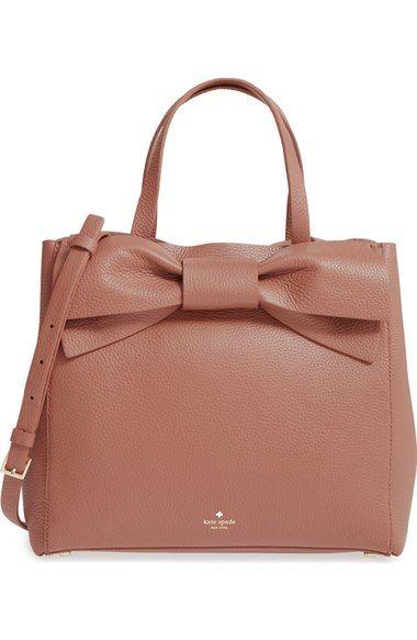 KATE SPADE Olive Drive Brigette Leather Satchel. #katespade #bags #shoulder bags #hand bags #lining #satchel #suede #