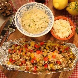 Image for Citronrisotto med ugnsbakad lax & grönsaker
