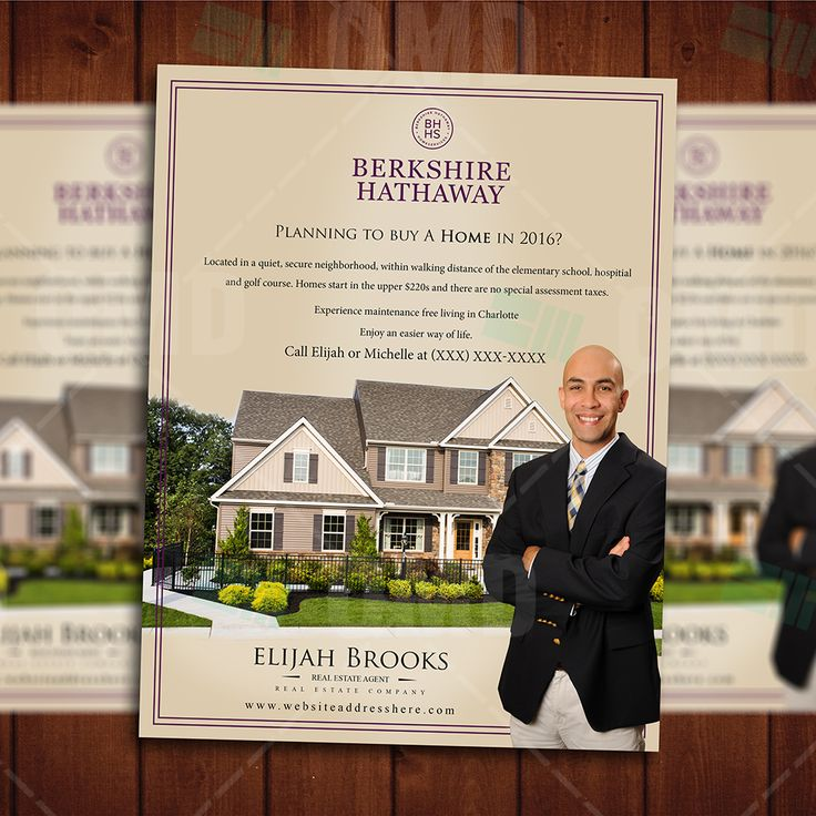 Real Estate Professional Marketing Template, Brand yourself and your Business with these professional template #realestatemarketing
