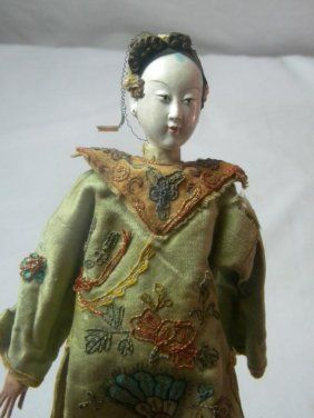 Antique Chinese Doll Qing Dynasty