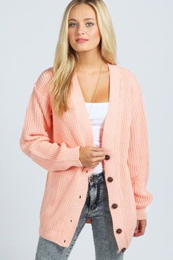 Nicola Fisherman Knit Cardigan at boohoo.com