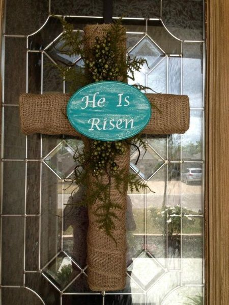 Easter Crafts & Decorations, Easter Cross Wreath