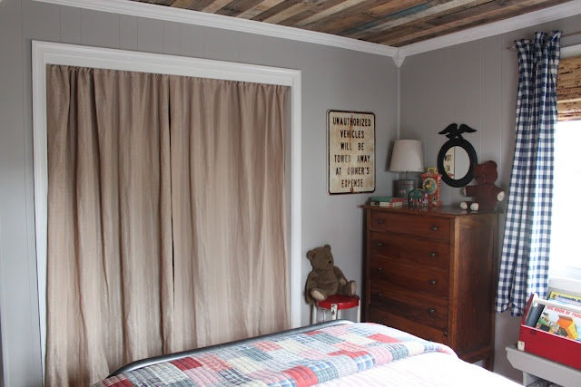 Curtains Hung Where A Slider Door Used To In Front Of A