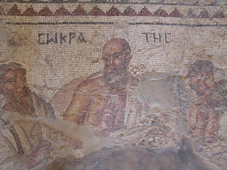 Socrate con i sei filosofi. Mosaico (un dettaglio), IV secolo. Apamea, Siria.