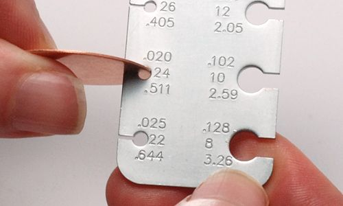 Here's another handy guide from Beaducation.  It's a great resource that explains metal gauges.  It will help you pick the perfect gauge blank for your hand stamped jewelry.