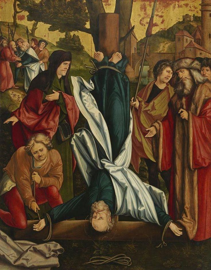 Crucifixion of Saint Peter (Christgartner Altar) / Crucifixión de San Pedro // ca. 1515-1516 // Hans Schäufelein // Alte Pinakothek