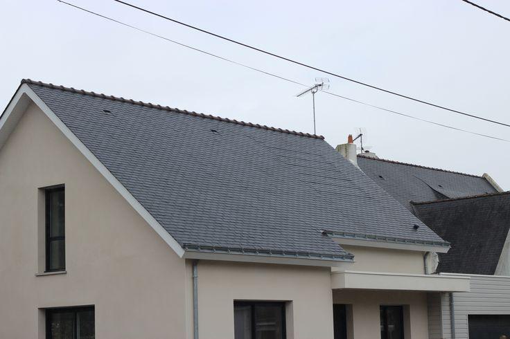 THERMOSLATE® fournisse de l'énergie solaire à une maison de Pouliguen | #THERMOSLATE #panneau #ardoise #efficacite #energetique #solaire #thermique #economies #renouvelable