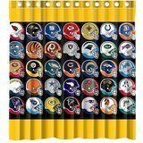 Custom NFL Background Spotlight Helmets Waterproof Polyester Fabric Bathroom Shower Curtain Standard Size 66wx72h ** Read more  at the image link.
