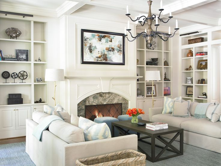 bookcase idea for built-ins next to fireplace - The Design Atelier