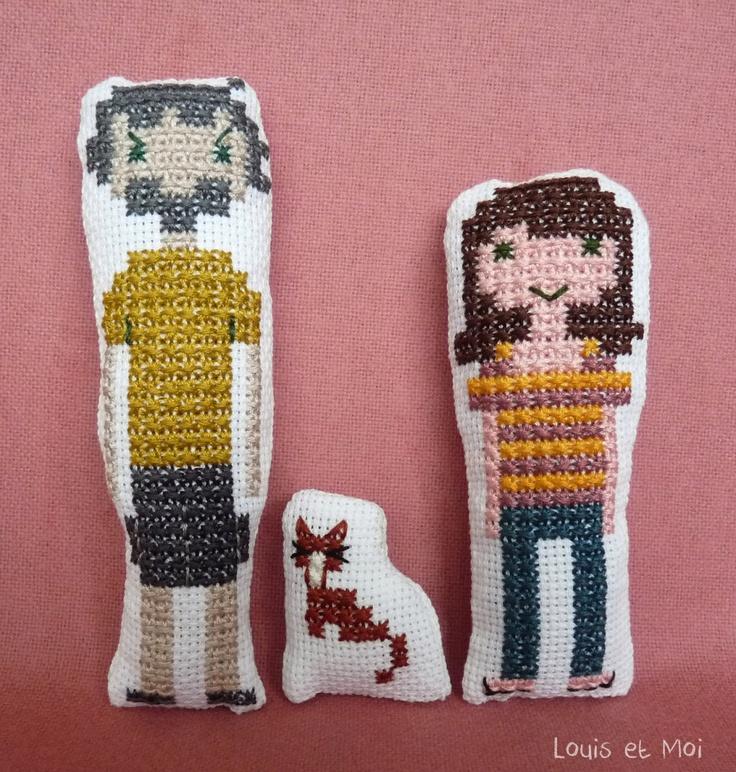 Custom Embroidery Family Portrait. $25,00, via Etsy.