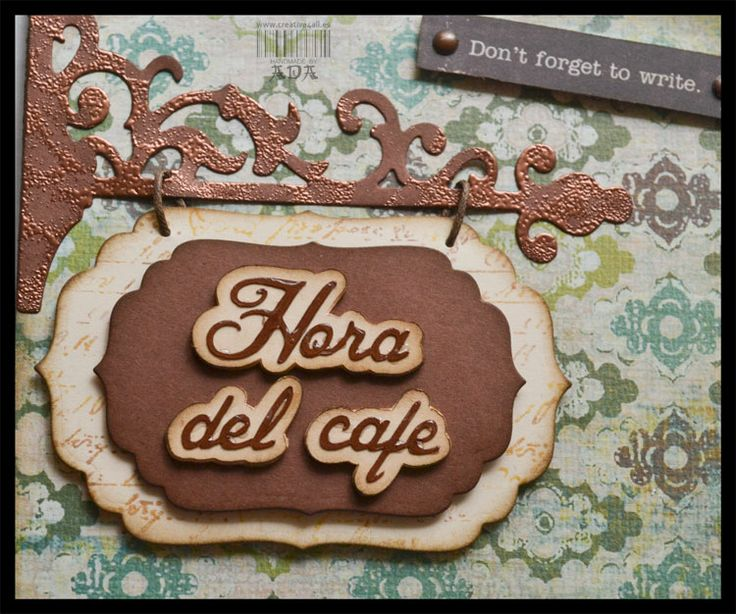 SCRAPBOOKING: SHOPPING LIST HORA DEL CAFE