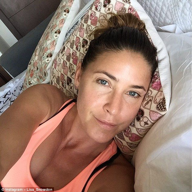 Au naturel: The Capital Breakfast host flaunted her bronzed complexion with a make-up free...