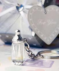 Crystal Bottle Keychain Christening Bomboniere
