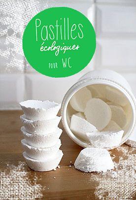 Tuto gratuit en français fabriquer des pastilles WC naturelles fait maison