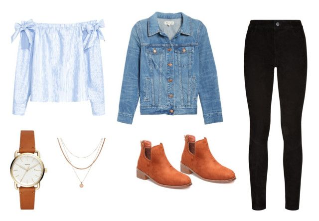 """Untitled #19"" by cass0698 on Polyvore featuring H&M, Madewell, Paige Denim and Luv Aj"
